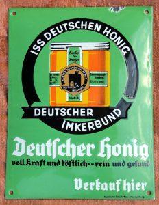 Werbeschild Deutscher Honig